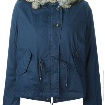 Woolrich lined hooded short parka