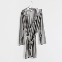 ASH GREY BATHROBE - Towels & Bathrobes - Bathroom | Zara Home United Kingdom