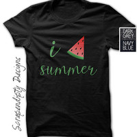 I Love Summer Shirt / Watermelon Love Shirt / Womens Summer Tshirt / Girls Watermelon Shirt / Boys Love Tee Clothes / Newborn Baby Clothing