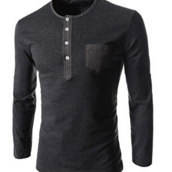 Mens Long Sleeve Button Up Shirt