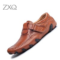 Spring Summer Men Flat Shoes Soft Split Leather Male Moccasin Driving Loafers Shoes Casual Sapatos Homens