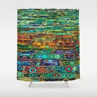 :: Technicolor Walkway :: Shower Curtain by :: GaleStorm Artworks ::