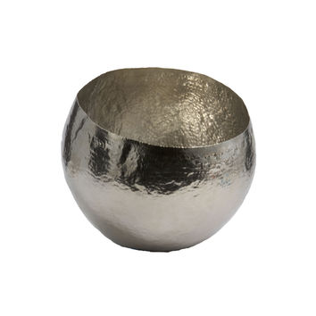 Small Hammered Nickel Plated Brass Bowl design by Lazy Susan