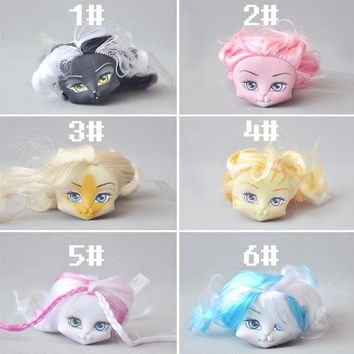 Monste High cat Figure Doll head cat girl doll head change makeup DIY bulk accessories Christmas birthday gift toys DOLL