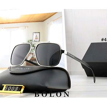 BOLON tide brand men and women large frame polarized frog mirror sunglasses #4