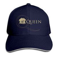 Queen Band Adjustable Sandwich Peaked Baseball Cap Hat
