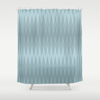 Storming Sea Shower Curtain by RBWPictures