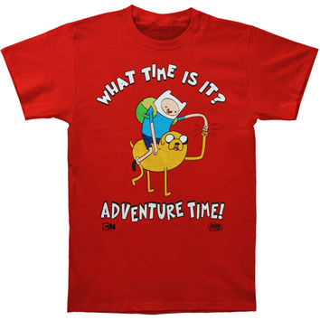 Adventure Time Men's  Fist Dap Up High T-shirt Red Rockabilia