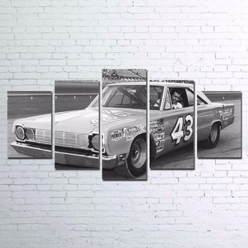 Richard Petty #43 Plymouth Winston Cup Race Car Canvas Wall Art Print Poster