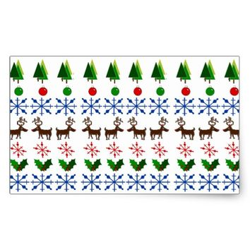 Crafty Christmas Rectangle Stickers