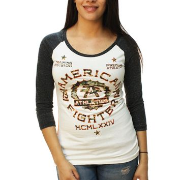 American Fighter Women's Maryland Camo Baseball T-Shirt
