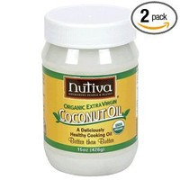 Nutiva Organic Virgin Coconut Oil, 15 Ounce (Pack of 2)