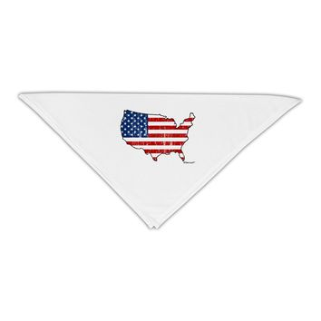 """United States Cutout - American Flag Distressed Adult 19"""" Square Bandana by TooLoud"""