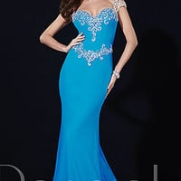 Long Sweetheart Panoply Dress with Cap Sleeves
