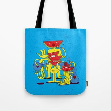 Watermelon Musican Tote Bag by Babak Esmaeli
