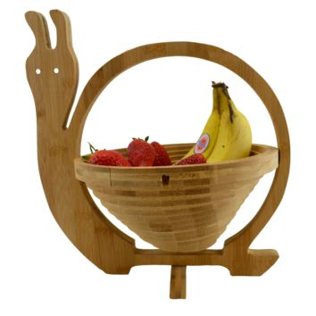 Foldable Bamboo Fruit Snail Basket