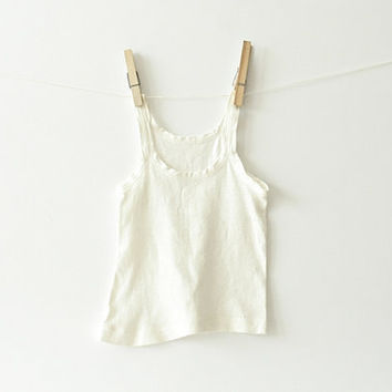 Vintage Baby Tank Top Tshirt - White Nursery Decor, Vintage Baby Clothes, Infants, Adorable Room Decor, Summer Baby, Shower Gifts