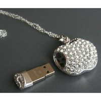 Amazon.com: High Quality 8gb Apple Crystal Jewelry USB Flash Memory Drive Necklace: Computers & Accessories