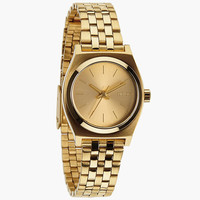 Nixon The Small Time Teller Watch Gold One Size For Women 24408762101