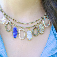 Precious Stone Necklace in Cobalt