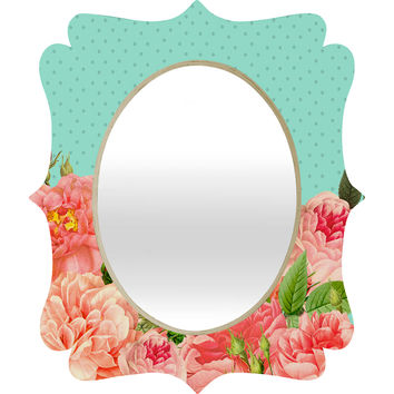 Allyson Johnson Sweetest Floral Quatrefoil Mirror
