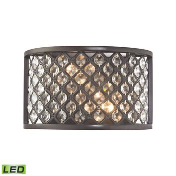 Genevieve 2 Light LED Wall Sconce In Oil Rubbed Bronze