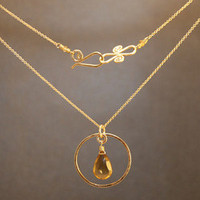 Necklace 311 - choice of stone - GOLD