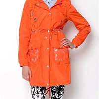 Betsey Johnson Clear Pocketed Trench Coat - Betsey Johnson Spring Outerwear - Modnique.com