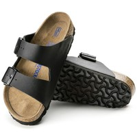 Best Online Sale Birkenstock Arizona Soft Footbed Birko Flor Black 0551251/0551253 Sandals