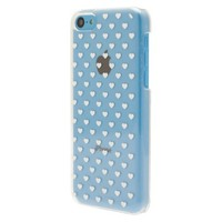 Mobiliving Mini with Hearts Cell Phone Case for iPhone 5C - White (CO8060)