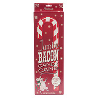 Jumbo Red & White Bacon Flavored Candy Cane