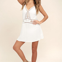 Exotic Locale White Crocheted Cover-Up