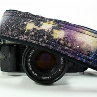 Galaxy Camera Strap, No. 29, Hand painted, dSLR or SLR, Cosmos, Nebula, OOAK