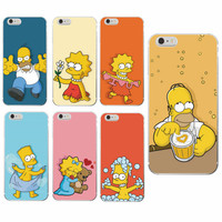 Simpson s Funny Bear Love Heart Kiss Soft Clear Phone Case Back Cover For iPhone 7 4S 5 5S SE 5C 6 6S 6Plus 7Plus SAMSUNG
