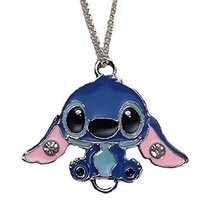 "Lilo & Stitch Movie STITCH Character Metal/Enamel PENDANT with 17"" Chain"