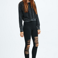 BDG Shredded Leggings in Black - Urban Outfitters