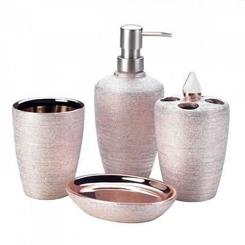 Rose Golden Shimmer Bath Set