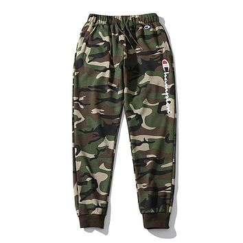 Champion Classic Popular Women Men Casual Print Pants Trousers Sweatpants Camouflage