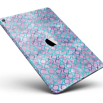 "Purple and Blue Watercolor Helix Pattern Full Body Skin for the iPad Pro (12.9"" or 9.7"" available)"