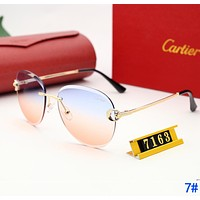 Cartier Fashion Ladies Delicate Summer Sun Shades Eyeglasses Glasses Sunglasses 7#