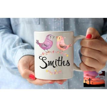 Coffee Mug | Family Name Birds Personalized Cup |
