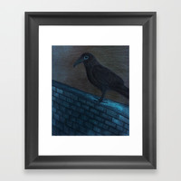 Raven Eye Framed Art Print by ES Creative Designs