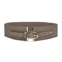 Simple Wide Elastic Waist Belt