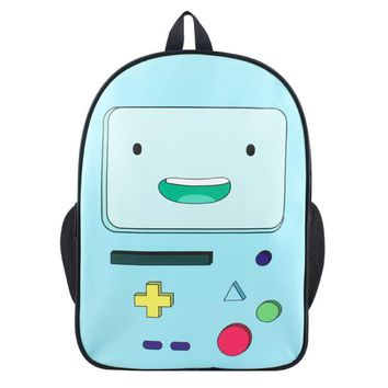 15 Inch Adventure Time Backpacks for Teenage Boys Finn and Jake School Book Bag Pack for Students Mochila s