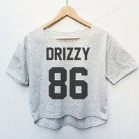Drizzy Drake Hiphop Rapper Tees Crop Top Fashion T-shirt Woman