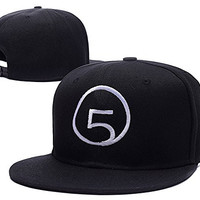 YUDUODUO Fifth Harmony Band Logo Adjustable Snapback Embroidery Hats Caps - Black