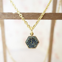 Green Charm Necklace gold plated 925 sterling silver necklace agate pendant gift for girlfriend geometric necklace gold green crystal collar