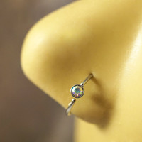 Aurora Borealis Nose Hoop or Cartilage Hoop Ring