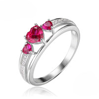 Captured Heart, Created Red Ruby Ring