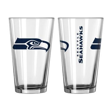 Seattle Seahawks Game Day Pint Glass 2-Pack | Overstock.com Shopping - The Best Deals on Football